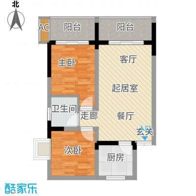金地豪苑55.56㎡b6面积5556m户型