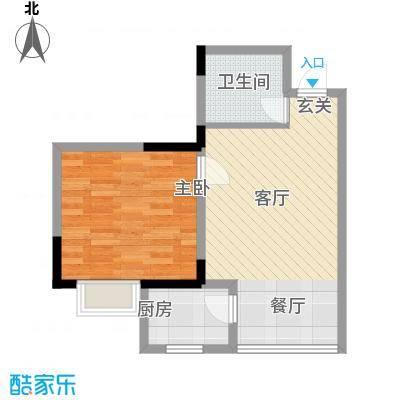 锦绣江南48.04㎡五号楼1面积4804m户型