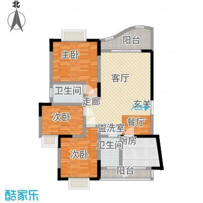 锦绣江南96.85㎡面积9685m户型