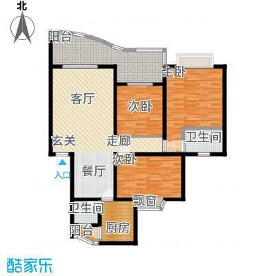 锦绣江南106.00㎡面积10600m户型