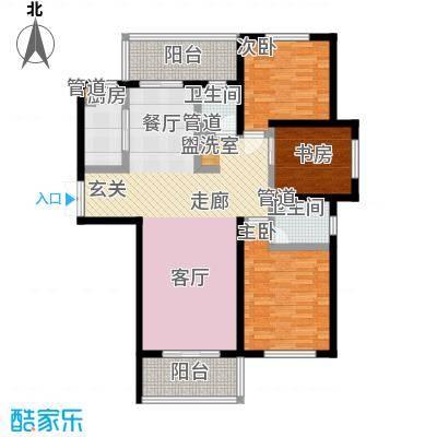 长江峰景136.00㎡一期3号楼标准层C户型