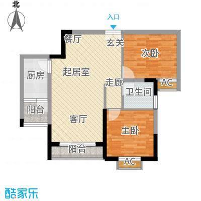 金地豪苑61.49㎡B1面积6149m户型