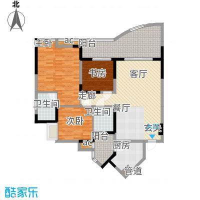 锦绣江南101.14㎡8号楼B面积10114m户型
