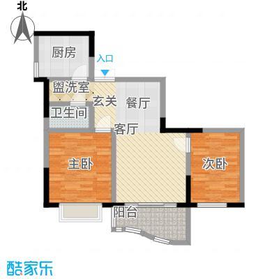 锦绣江南64.56㎡五号楼1面积6456m户型