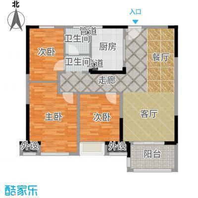 中海万锦熙岸95.00㎡一期12#06层A1户型