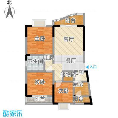 锦绣江南88.79㎡四号楼A型2面积8879m户型