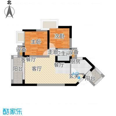 润安五月花房58.98㎡F面积5898m户型