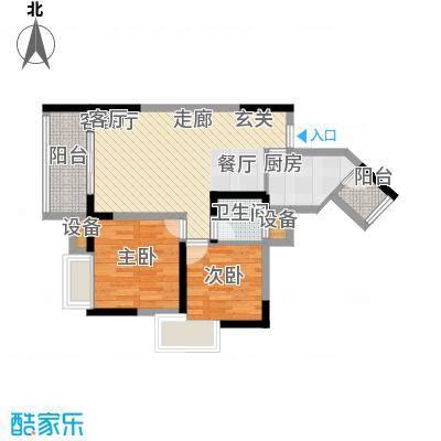 润安五月花房59.94㎡E面积5994m户型