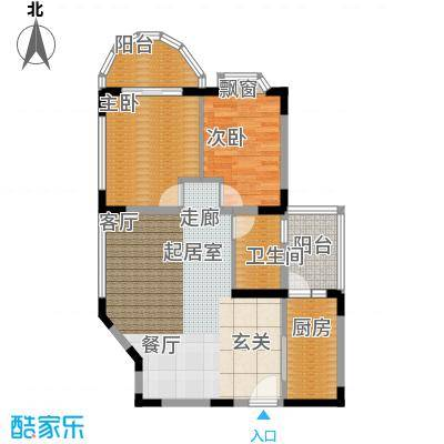 西亚怡顺佳苑77.55㎡C2面积7755m户型