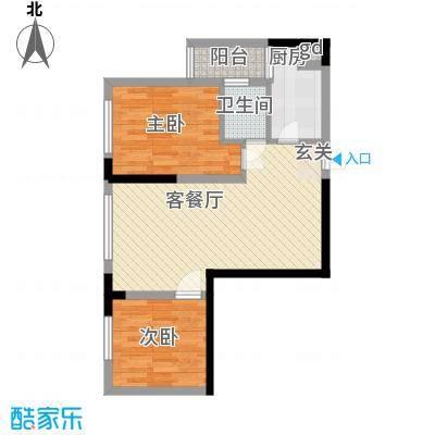 金象左右SOLO公寓58.32㎡B2面积5832m户型