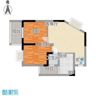 金象左右SOLO公寓62.55㎡A15面积6255m户型