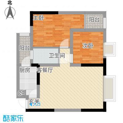 金象左右SOLO公寓61.56㎡B8面积6156m户型