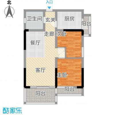 宏基大厦74.12㎡1、2、3号房面积7412m户型