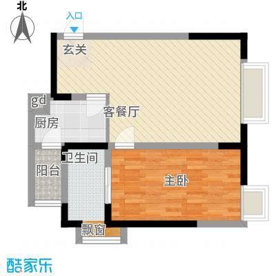 金象左右SOLO公寓57.12㎡B5面积5712m户型