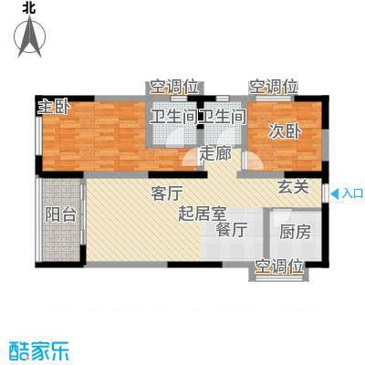 荣鼎新苑80.73㎡C面积8073m户型
