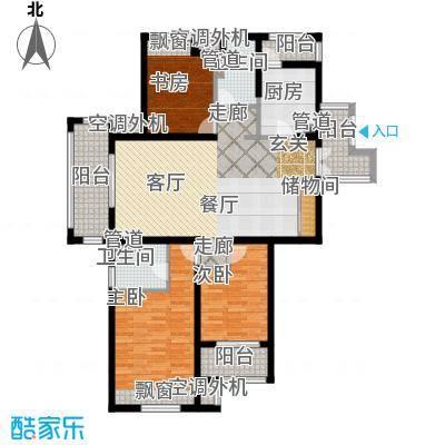 润开华府121.85㎡一期3号楼标准层g户型