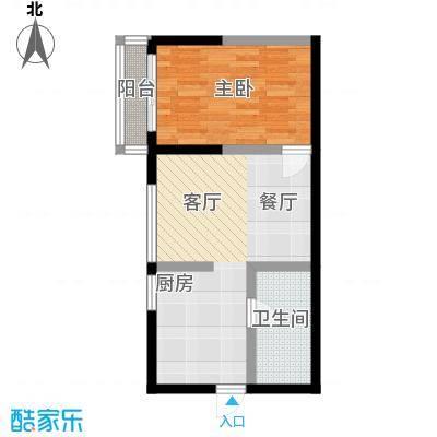 宏基大厦44.07㎡12号房1面积4407m户型