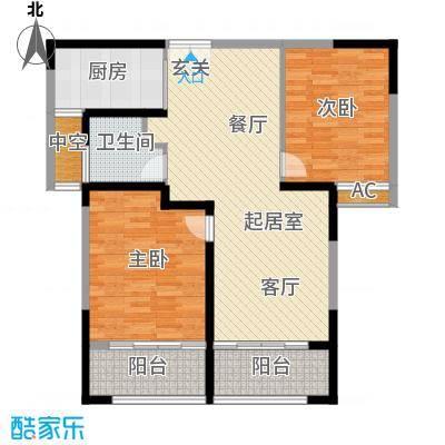 璟湖国际99.00㎡�湖国际一期1-5号楼标准层D户型