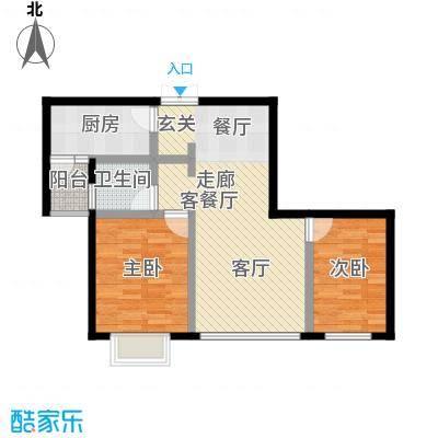 丽景天成65.57㎡面积6557m户型