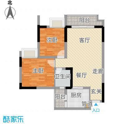 亚热带雅居62.42㎡3栋3号2面积6242m户型