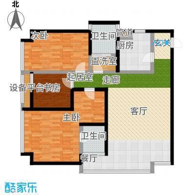 恒通云鼎国际公寓127.19㎡面积12719m户型