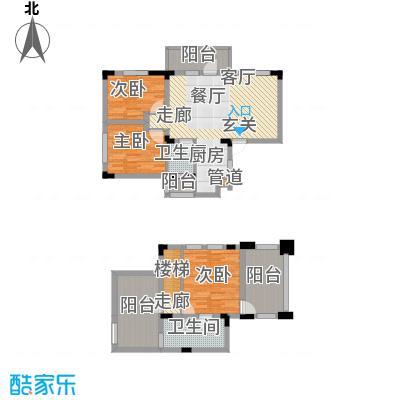 芳草地雪岭仙山三期法米亚89.90㎡面积8990m户型