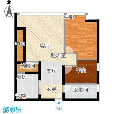 恒通云鼎国际公寓77.21㎡面积7721m户型