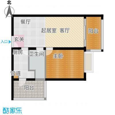 恒通云鼎国际公寓78.00㎡面积7800m户型