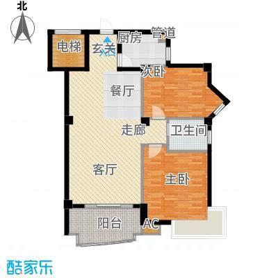 明发滨江新城90.00㎡三期T户型