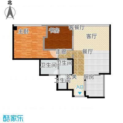 雨润国际广场125.00㎡一期洲际行政公寓标准层B3户型