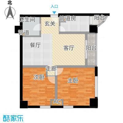 珠江彩世界69.80㎡D-4花香屋语面积6980m户型