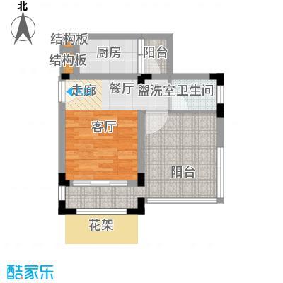 芳草地雪岭仙山三期法米亚27.23㎡面积2723m户型
