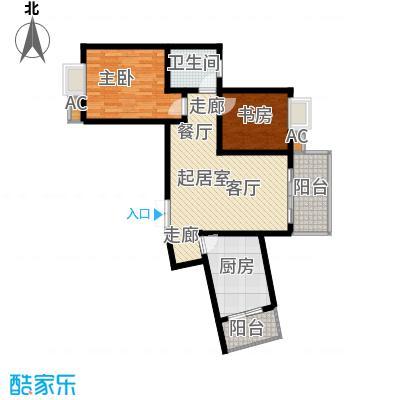 兰亭水云涧75.56㎡F11一号房面积7556m户型