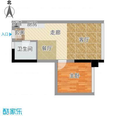 水晶石国际公寓40.00㎡A3B3面积4000m户型