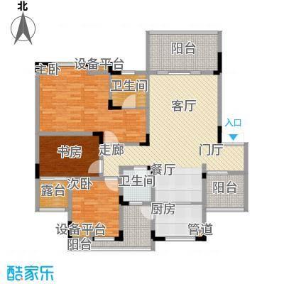 聚义香城故事104.42㎡一期标准层面积10442m户型