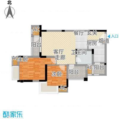 融汇半岛艾德公馆75.00㎡5号楼标面积7500m户型