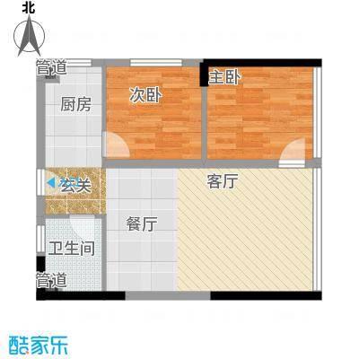 水晶石国际公寓56.00㎡A5B5面积5600m户型