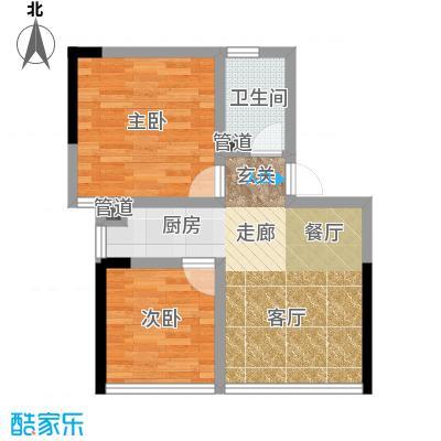水晶石国际公寓48.00㎡A1B1面积4800m户型