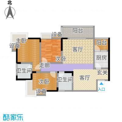彩云小城94.97㎡H面积9497m户型