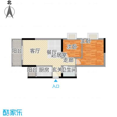 布克公馆62.73㎡C栋1号1面积6273m户型