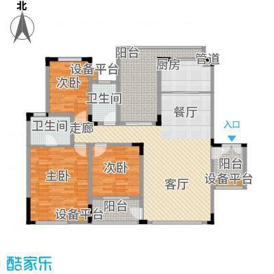 聚义香城故事106.76㎡一期标准层面积10676m户型