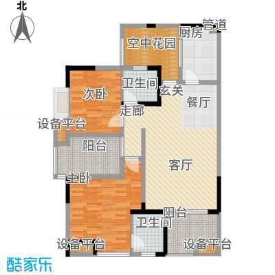 聚义香城故事83.13㎡一期标准层面积8313m户型