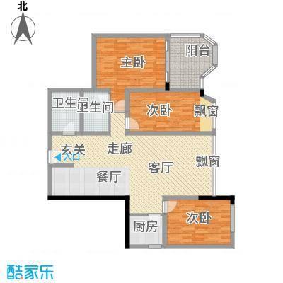 上海东方花苑123.96㎡1面积12396m户型
