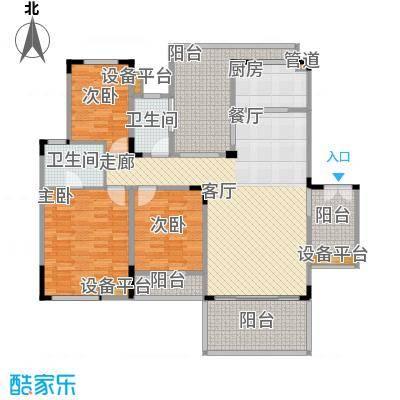 聚义香城故事115.75㎡一期标准层面积11575m户型