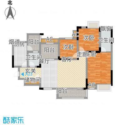 融汇半岛艾德公馆108.00㎡1号楼标面积10800m户型
