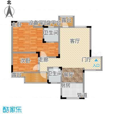 聚义香城故事83.82㎡一期标准层面积8382m户型