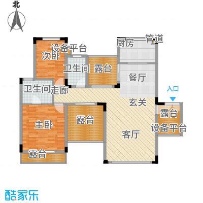 聚义香城故事87.66㎡一期标准层面积8766m户型