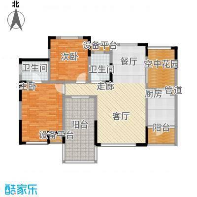 聚义香城故事88.31㎡一期标准层面积8831m户型