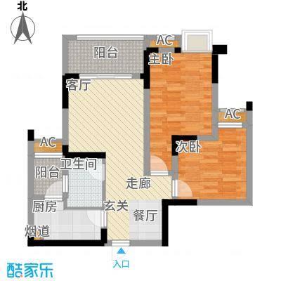 融汇半岛艾德公馆65.00㎡7号楼标面积6500m户型