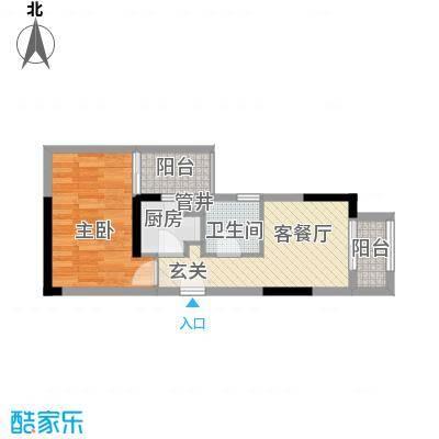 复地上城国际公寓38.00㎡一期单面积3800m户型